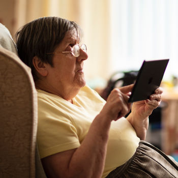 Person using an iPad