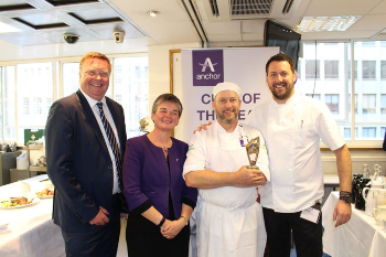 Receiving my trophy at last year's Chef of the Year competition.