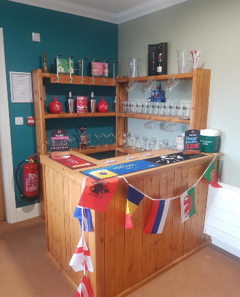 Bar in pub area at Dearne Hall