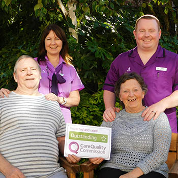 Birkenhead Court staff and residents