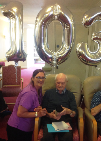 103 year old war veteran at The Beeches care home