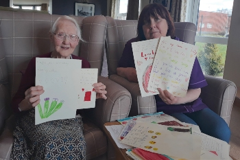 Children send letters to Chesterton Lodge residents