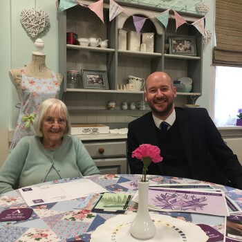David Wood and Ann Paul at Halcyon Court care home in Headingley