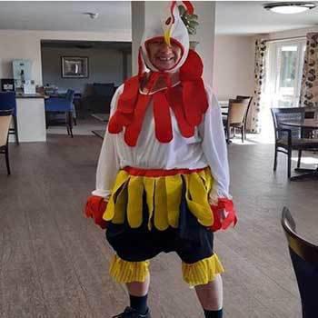 Denise in costume