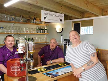 Deput Manager Brian McNaught and Caretaker Paul Todd