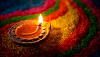 Diyas are often used to decorate houses during Diwali