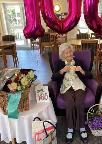Joan Tuck 100th birthday at Augusta Court