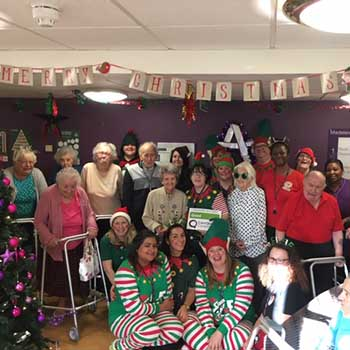 Madeleine House care home celebrating