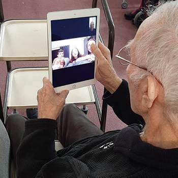 John Ryan using an iPad