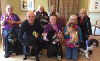 Townend Close care home Crufts winners and their owners