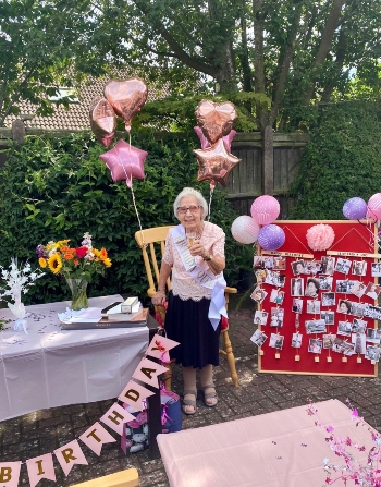 Vera's 100th birthday at The Ridings