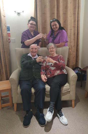Widnes Hall celebrating CQC rating