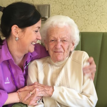 Willow Gardens care home Customer Relations Manager Suzanne and her nana