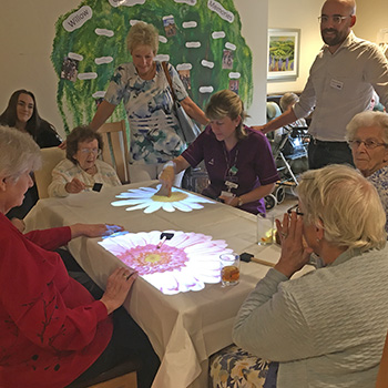 Willow Gardens magic table in use