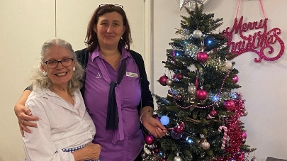 Comedian switch on lights at care home