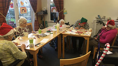 Selkirk care home residents bring in the Christmas cheer