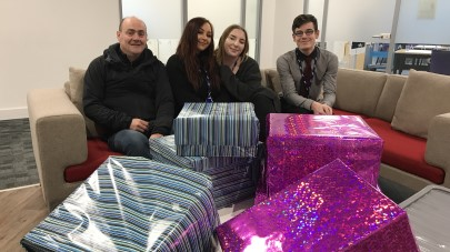 Apprentices collect clothes for homeless charities