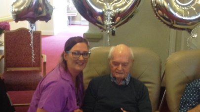 The Beeches care home holds part for 103 year old war veteran