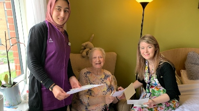 Children write to care home residents