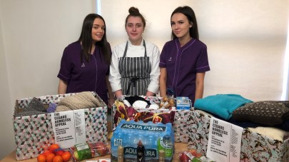 Apprentice at The Cedars care home collects clothes for homeless charity