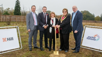 New Anchor Hanover care home landings breaks ground special guests