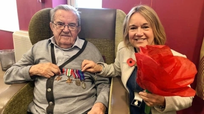 Primrose Court care home honours world war two veteran for VE Day