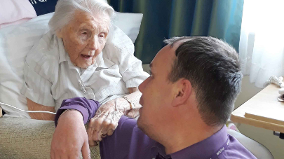 102 year old resident at Nelson Lodge care home