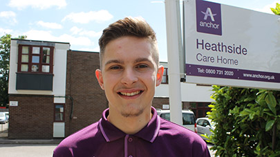 Care assistant at Heathside calls on young men in Surrey to consider a career in care