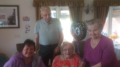 Highfield Court celebrate residents' 100th birthday