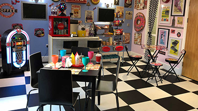 1950s retro diner comes to Mill View care home