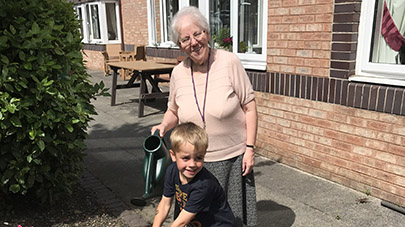 Palmersdene care home hosts bring your child to work day