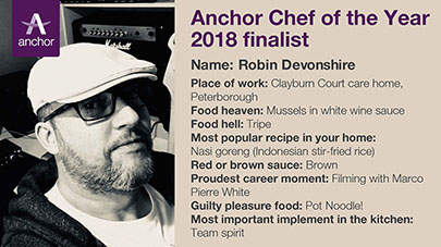 Clayburn Court care home Chef shortlisted for Anchor Chef of the Year