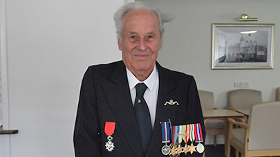 War veteran honoured by the French Government for his bravery