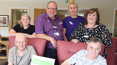 Herries Lodge care home praised by care regulator