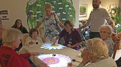Willow Gardens residents enjoy new Magic Table