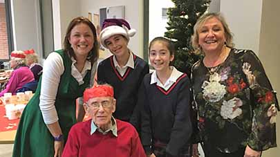 Residents at Willow Gardens are bridging the age gap with local youth this December