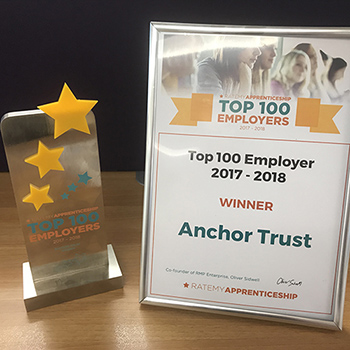 RateMyApprenticeship 1st Place award