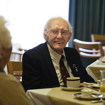 Gentleman in dining room