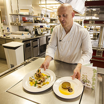 Russell with his winning dishes