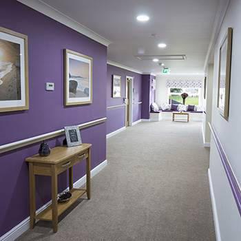 A care home hallway