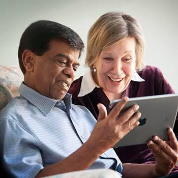 Customers with iPad