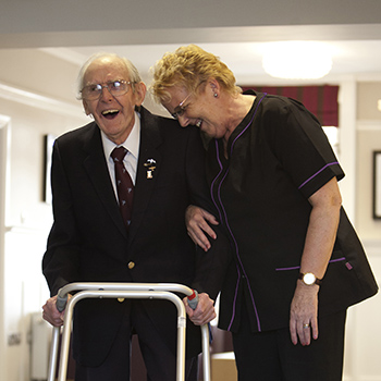 A carer and resident