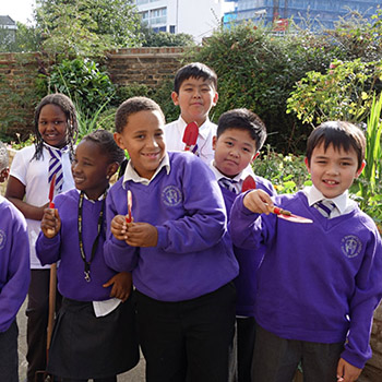 School children from St Stephen's